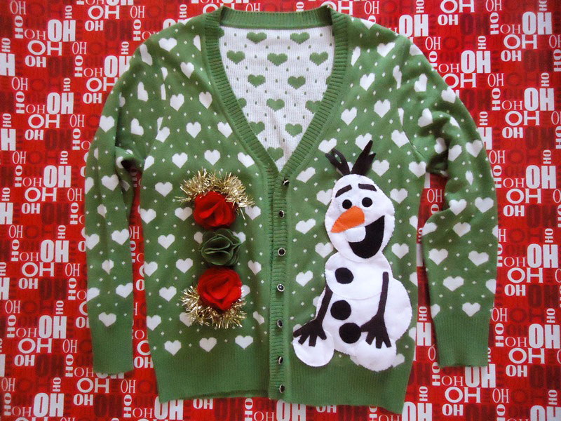 an ugly holiday sweater.