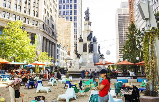 The Beach at Campus Martius